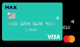 כרטיסי אשראי גנריים max